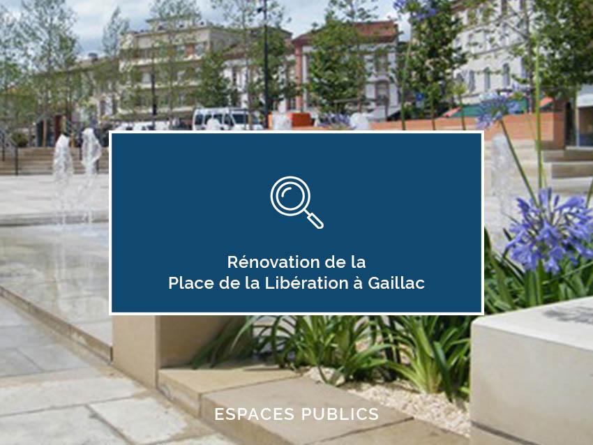 Rénovation de la Place de la Libération (Gaillac)